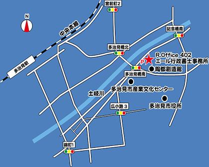 事務所地図(グレー)